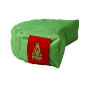 PRANA Zöld - Piros standard huzat 36x23x12 cm félhold jóga ülőpárnához
