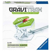 Ravensburger Gravitrax Accesorio para trampolín de mármol para niños y niñas, GraviTrax Jumper, Blanco & Verde, 17.78 cm