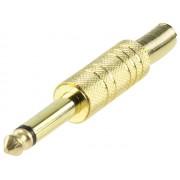 Valueline JC-032 6,3mm mono jack dugó szerelhető - aranyozott