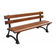 Parková lavice 150 cm s opěrkou, litina, olše, lakovaná - 150