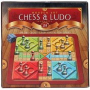 Ratna's Wooden Art Chess Ludo Magnetic
