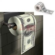 New One Hundred Dollar Bill Toilet Paper Novelty Fun $100 Tp Money Roll Gag Gift