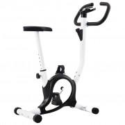 vidaXL Bicicleta estática com resistência por cinta preto