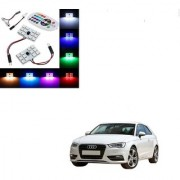Auto Addict Car 12 LED RGB Roof Light with IR Remote Car Fancy Lights For Audi A3