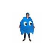 Merkloos Pacman spookje blauw regenponcho