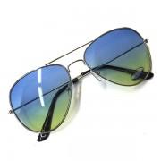 Sluneční brýle Aviator - modré-žluté