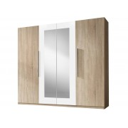 Smartshop WILDER skříň se zrcadlem, dub sonoma/bílá