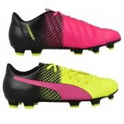 Puma voetbalschoenen Evopower 4.3 FG roze/geel heren mt 41