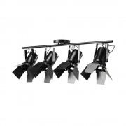 Maisons du Monde Lámpara de techo 4 focos orientables de metal negro An. 103 cm HOLLYWOOD