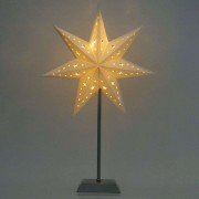 Seven-pointed LED paper star Whitemas