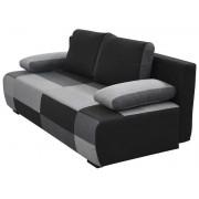 CONFORAMA Banquette clic-clac DOMINO coloris gris et noir