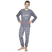Milos fiú pamut pizsama, sötét szürke 146