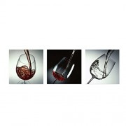 ELECTROPRIME® 3pcs Modern Canvas Prints Art Landscape Bedroom Wall Picture Wine Glass-L