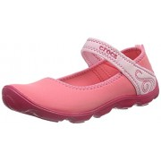 Crocs Girl's Coral and Ballerina Pink Indian Shoes - J3