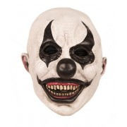 Latex Clown masker zwart wit