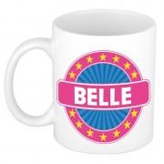 Bellatio Decorations Namen koffiemok / theebeker Belle 300 ml