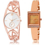 The Shopoholic Silver Rose Gold Combo Best Combo Pack Silver And Rose Gold Dial Analog Watch For Girls Stylish Watches For Women