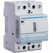 Moduláris kontaktor 63A, kézi kapcsolással, 2 Záró érintkező, 12V AC 50 Hz (Hager ERL263)