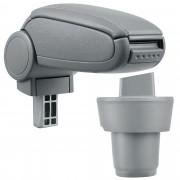 PremiumXL - [pro.tec] Naslon za ruke – specifičan za Seat Mii (3- i 5-vrata) - naslon za ruke za auto - sa pretincem - umjetna koža - siva