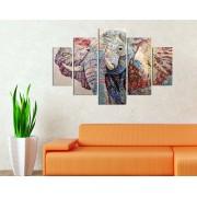 Tablou decorativ multicanvas Miracle, 5 Piese, Elefant, 236MIR2918, Multicolor