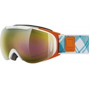 schi ochelari Uvex G.GL 9 RECON gATA, alb-portocaliu dublu lentile / litemirror aur (1126)