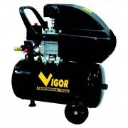 Compressore aria vigor vca-24l 24 litri / 220v / 1 cilindro / trasmissione diretta / 2 hp