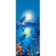 Ideal Decor Komar dm513ación delfín en el sol 2paneles, Mural de pared