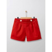 CYRILLUS Short chino fille rouge tomate