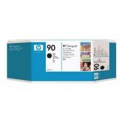 HP Cartucho de Tinta Original HP 90 de 400 Ml C5058A Negro para DesignJet 4000, 4000ps, 4020, 4020ps, 4500, 4500mfp, 4500ps, 4520, 4520 HD MFP, 4520ps