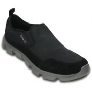 Crocs Duet Sort Stretch Canvas Slip on Sneakers For Men(Black)