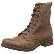 Steve Madden Women's Charrie Cognac Leather Boots - 3.5 UK/India (36 EU)(5.5 US)
