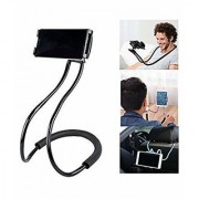 Ezellohub Lazy Hang Neck Phone Support 360 Degree Rotation Flexible Multi-Function Creative Mobile Phone Holder Desktop Bed Car Lazy Bracket Mobile Stand Support All Mobiles