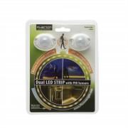 Dual PIR LED pásik s pohybovým senzorom a časovačom