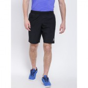 Reebok Black Polyester Lycra Walking Shorts