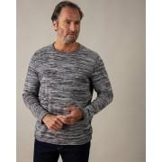 Gentlemen Selection Pullover in Salz- & Pfeffer-Optik schwarz/weiß male 56