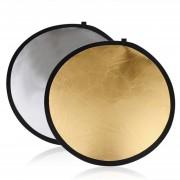 EB Ronda 5 En 1 Estudio De Fotografía Luz Mulit Disco Plegable Reflector - Color Plata Dorado