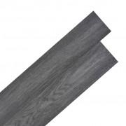 vidaXL Самозалепващи подови дъски от PVC 5,02 м² 2 мм черно и бяло