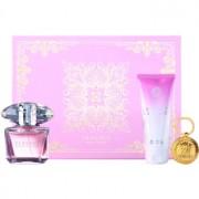 Versace Bright Crystal lote de regalo XXII. eau de toilette 90 ml + leche corporal 100 ml + llavero