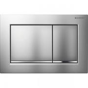 Geberit Omega30 bedieningsplaat Omega30 DF kunststof 21.2x14.2cm boven/frontbediend mat/glans/mat chroom 115080kn1