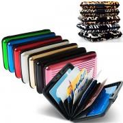 V&V Pouzdro na doklady a peněženka Aluma Wallet (fialová barva) - V&V