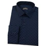 Pánská košile SLIM tmavěmodrá se vzorečkem Avantgard 125-3108-37/38/182