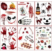 PATITI Scars Tattoos Patiti Halloween Waterproof Scratch Wound Sticker Temporary Tattoo Cosplay Zombie Scar