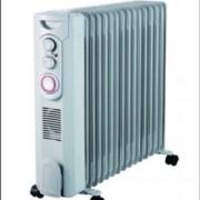 Mаслен радиатор Finlux FR-1529FT WH, 3 степени на мощност, вентилатор, 2900W, сив