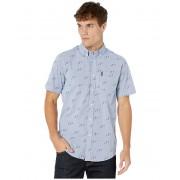 Ben Sherman Short Sleeve Scooter Print Shirt Light Blue