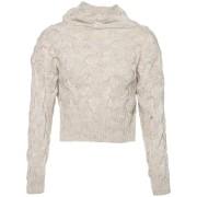 ComeGetFashion Gebreide cropped sweater beige - Truien & Sweaters