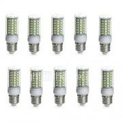 E14 G9 GU10 B22 E26/E27 LED-maïslampen TL 69 SMD 5730 850-950 lm Warm wit Koel wit 3000/6000 K Waterbestendig Decoratief AC 220-240 AC