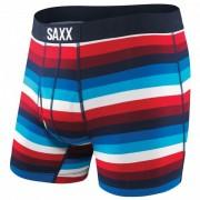 Saxx - Ultra Boxer Brief Fly - Synthetisch ondergoed maat S blauw/zwart/rood