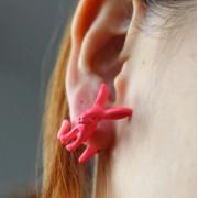 Fülön átugró nyuszi fülbevaló