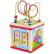 Pidoko Kids Magic Garden Playing Cube - My First Learning Activity Center with Bead Maze - Perfect Toy Gift for Toddlers