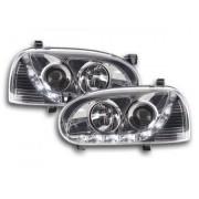 FK-Automotive faro Daylight VW Golf 3 tipo 1HXO 1EXO anno di costr. 91-97 cromato